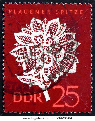Postage Stamp Gdr 1966 Plauen Lace, Lace Design
