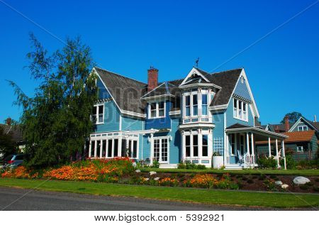 Bright House In Sunlight