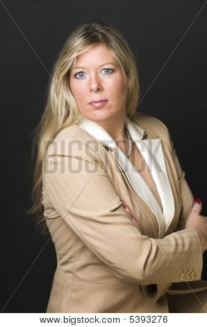 Sexy Blond Woman Corporate Head Shot