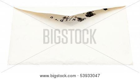 Unsealed Paper Envelope With Child Letter