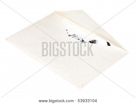 Open White Envelope With Child Letter