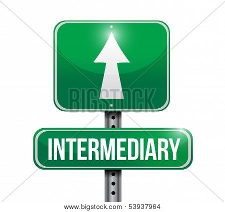 Intermediary Road Sign Illustration Design