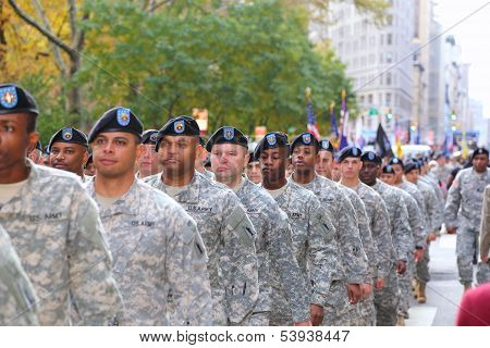 US Army in formation
