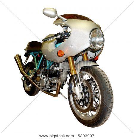 Blaugrün und Silber Motorrad
