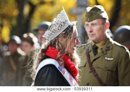 Allaina Guitron, Ms. Veteran America Greets Doughboys