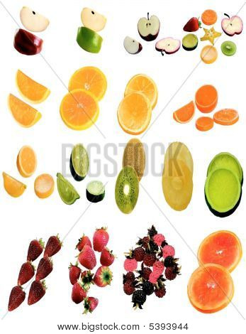 Sliced Fruits Vector.