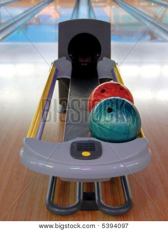 bowling alley ball return
