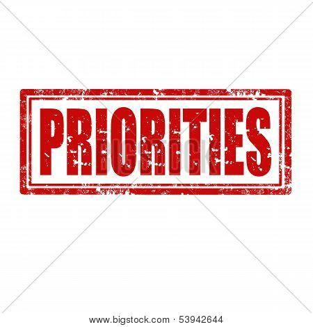 Priorities-stamp