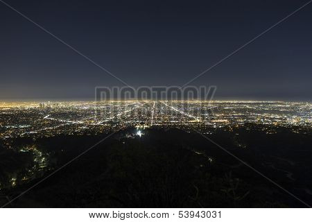 Hazy night in the Los Angeles basin.