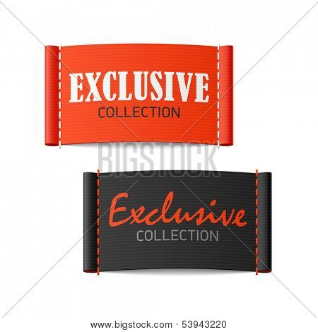 Exclusive collection clothing labels. Vector.