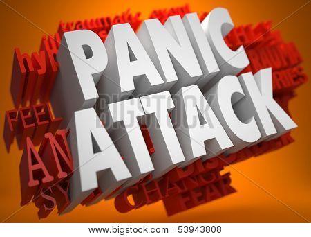 Pannic Attack Concept.