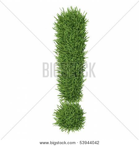 Exclamation mark made ??of grass