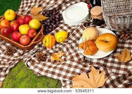 Outdoors picnic close up