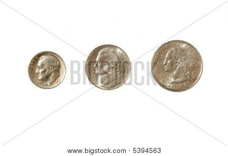 Coin, Dime, Nickel, Quarter