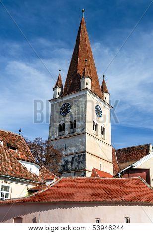 Cisnadie Church Tower, Transylvania, Romania