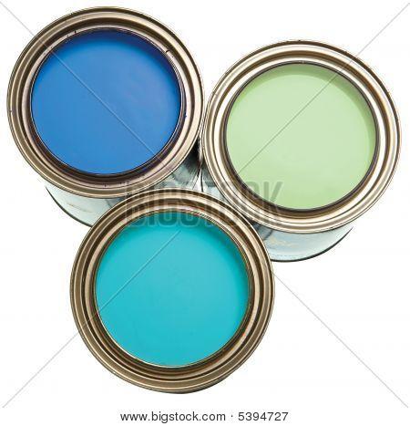 Blue Paint Buckets