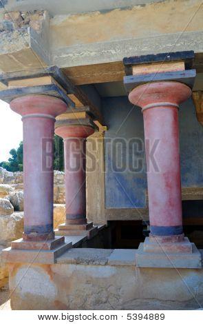 Sítio arqueológico de Cnossos. Palácio de Minoan. Creta.