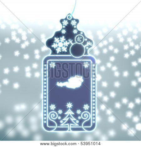 Magic Christmas Label With Austria Sign