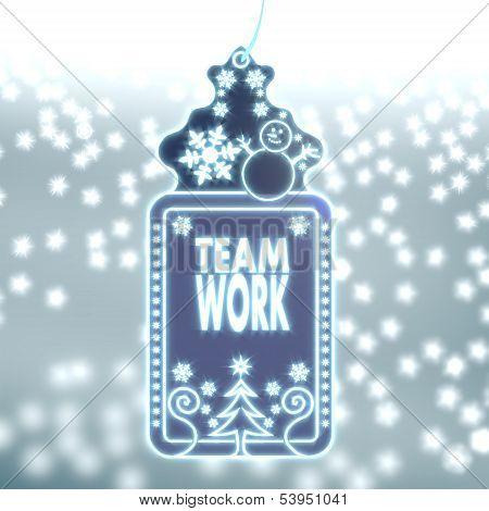 Magic Christmas Label With Teamwork Sticker