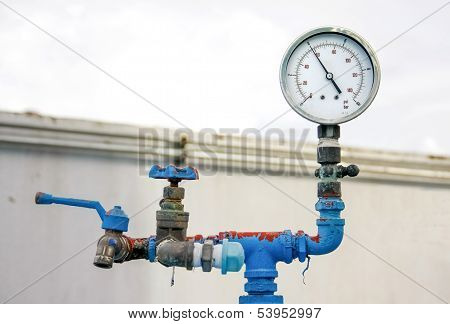 Old Meter Valve And Faucet