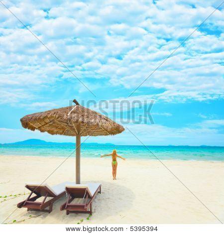 Woman Enjoy Sun