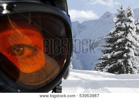 Eye Behind Goggle
