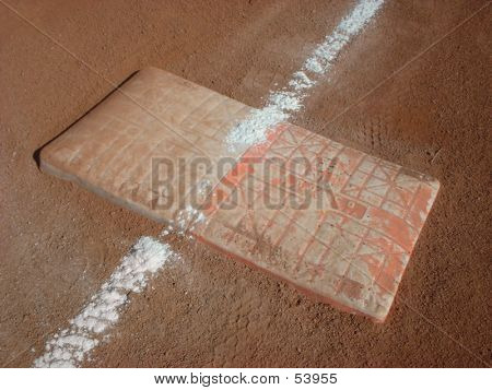 First Base At A Recreational Baseball Park