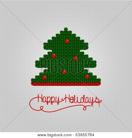 Knitting Happy Holiday banner