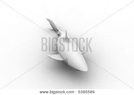 Great White Ceramic Shark