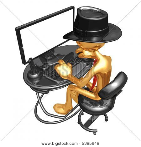 Empresário de ouro cara 3D Vector