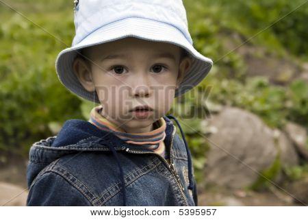 Wood Portrait Of Little Boy
