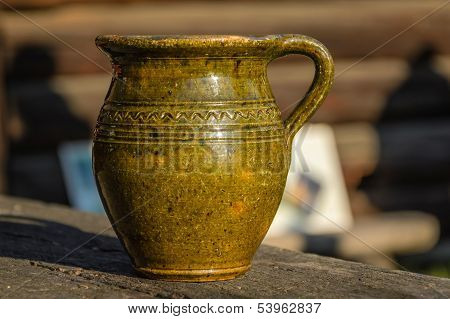 Old Traditional Jug For Honey