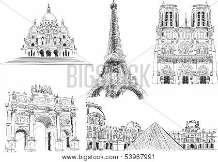 Attractions of Paris, France