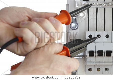 Technician testing