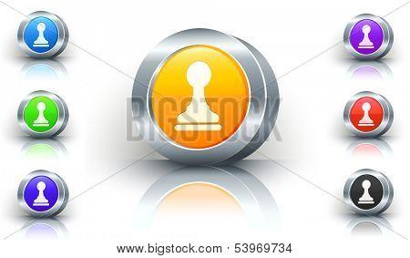 Pawn Color Button Set