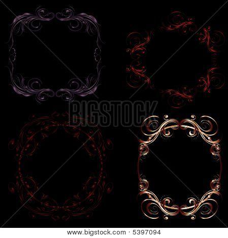 Gothic Filigree Swirl Frames