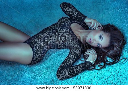 Beautiful Woman Lying