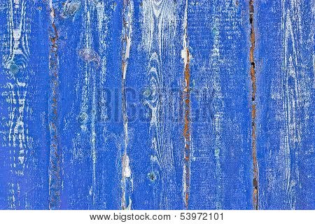 Contrast Wood  Blue Grunge Texture