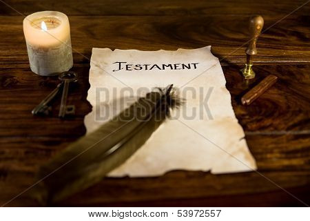 Document With The Word Testament