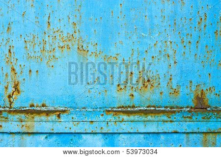 Metal Blue Rusty Texture