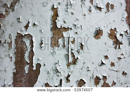 Texture Of Peeling Painted Rusted Wall