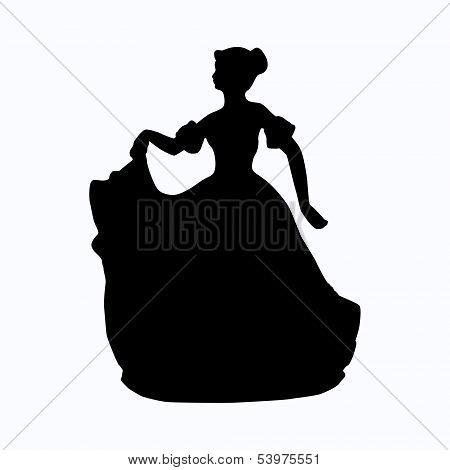 Vintage victorian lady vector