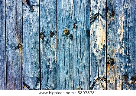 Wood Grained Blue Grunge Texture