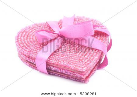 Pink Beaded Heart