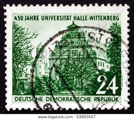 Postage Stamp Gdr 1952 Halle University