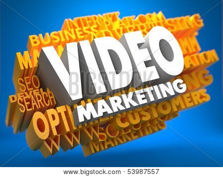 Video Marketing. Wordcloud concepto.