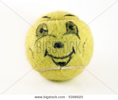 Yellow Smiling Face Tennis Ball