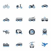 pic of rickshaw  - This set contains 16 transportation icons that can be used for designing and developing websites - JPG
