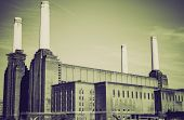 Vintage Sepia Battersea Powerstation London