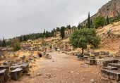 picture of oracle  - Delphi is both an archaeological site and a modern town in Greece on the south - JPG